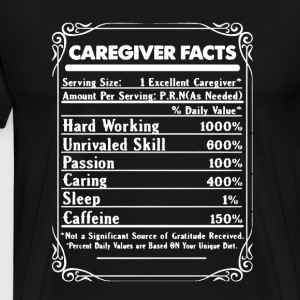 Caregiver Facts - Men's Premium T-Shirt