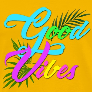 Good Vibes Palm Leaves - Men's Premium T-Shirt