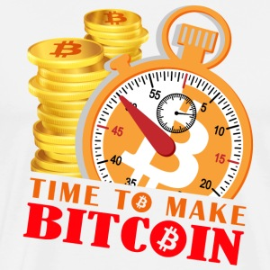 Time to Make Bitcoin - Men's Premium T-Shirt