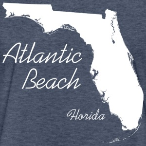 Atlantic Beach, Florida - FL, White T-Shirts - Fitted Cotton/Poly T-Shirt by Next Level