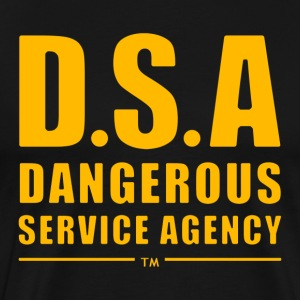 D.S.A Dangerous Service Agency YELLOW - Men's Premium T-Shirt