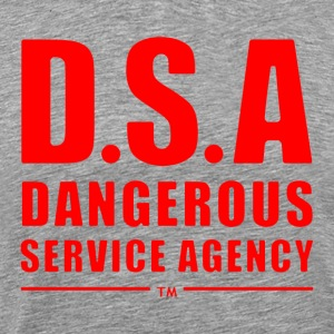 D.S.A Dangerous Service Agency RED - Men's Premium T-Shirt