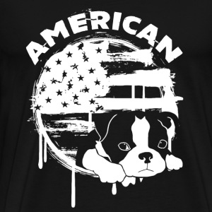 American Boston Terrier - Men's Premium T-Shirt