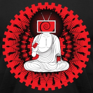 Manipulated Buddha T-Shirts - Men's T-Shirt by American Apparel
