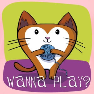 "Cat T-Shirt ""Wanna play"" - Women's Premium T-Shirt"
