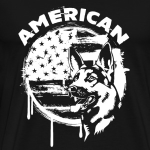 American German Shepherd - Men's Premium T-Shirt