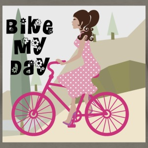 Bike my Day Bag - Women's Premium T-Shirt