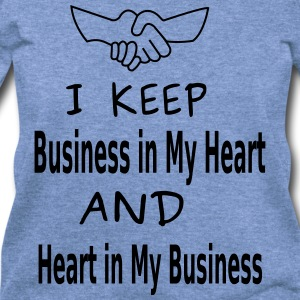 Business Heart Long Sleeve Shirts - Women's Wideneck Sweatshirt
