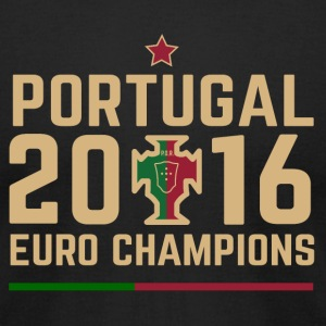 Portugal Soccer Football Euro 2016 Champions ID-1 - Men's T-Shirt by American Apparel