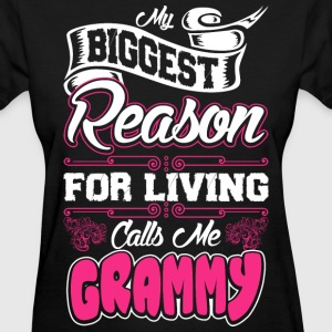 My Biggest Reason For Living Calls Me Grammy T-Shirts - Women's T-Shirt