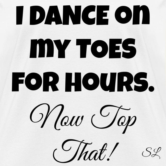 Pointe Ballet Dance T-shirt by Stephanie Lahart