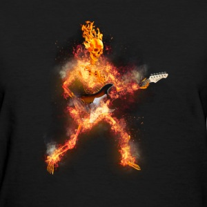 Daz Fire Skeleton Guitarist T-Shirts - Women's T-Shirt