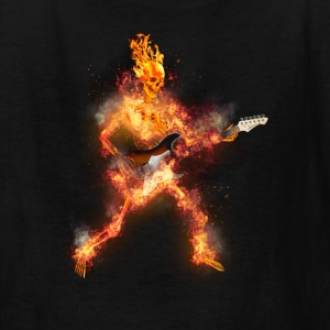Daz Fire Skeleton Guitarist Kids' Shirts - Kids' T-Shirt