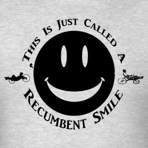 Recumbent Smile (Black Ink) - Men's T-Shirt