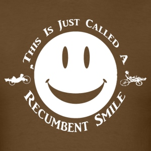 Recumbent Smile (White Ink) - Men's T-Shirt