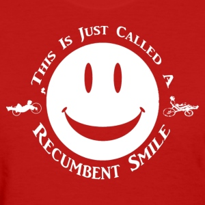 Recumbent Smile (White Ink) - Women's T-Shirt