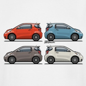 Four Toyota Scion iQ Micro Cars T-Shirts - Men's Tall T-Shirt