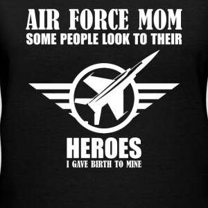 Airforce Mom Heroes Shirt - Women's V-Neck T-Shirt