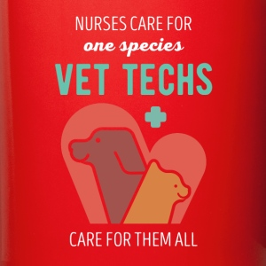 Vet Techs care for them all Veterinary T-shirt Mugs & Drinkware - Full Color Mug