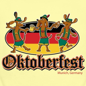 Oktoberfest Dancing Dachshunds - Baby Short Sleeve One Piece