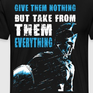 300 movie qoute - Men's Premium T-Shirt