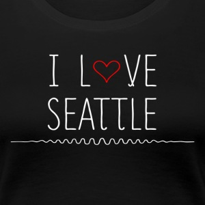 I Love Seattle T-Shirts - Women's Premium T-Shirt