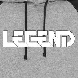 Legend Logo Black Outline (YouTube RelicVids) Hoodies - Colorblock Hoodie