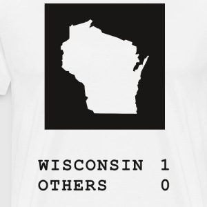 Wisconsin always wins - Men's Premium T-Shirt