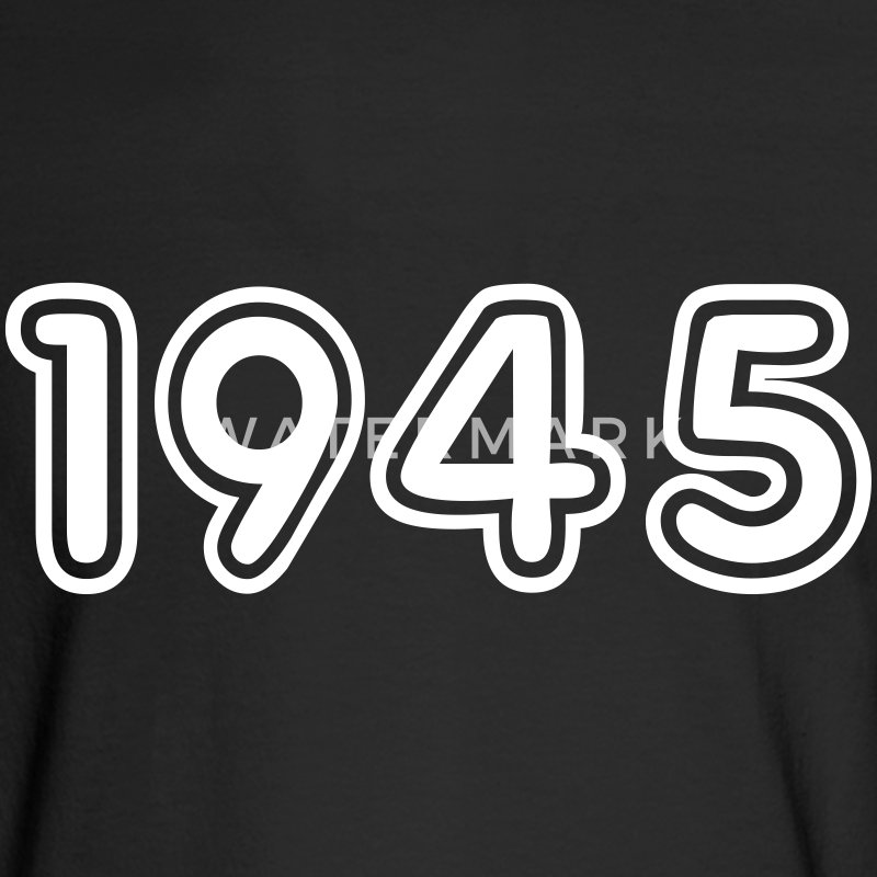 1945, Numbers, Year, Year Of Birth Long Sleeve Shirts - Men's Long Sleeve T-Shirt