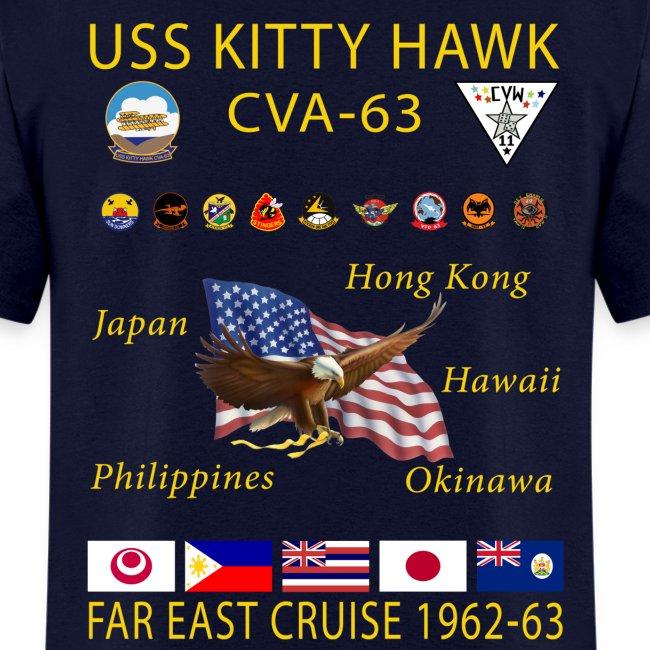 USS KITTY HAWK CVA-63 FAR EAST CRUISE 1962-63 CRUISE SHIRT