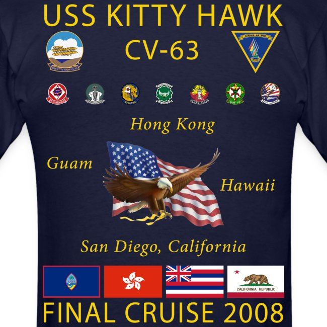 USS KITTY HAWK CV-63 2008 CRUISE SHIRT