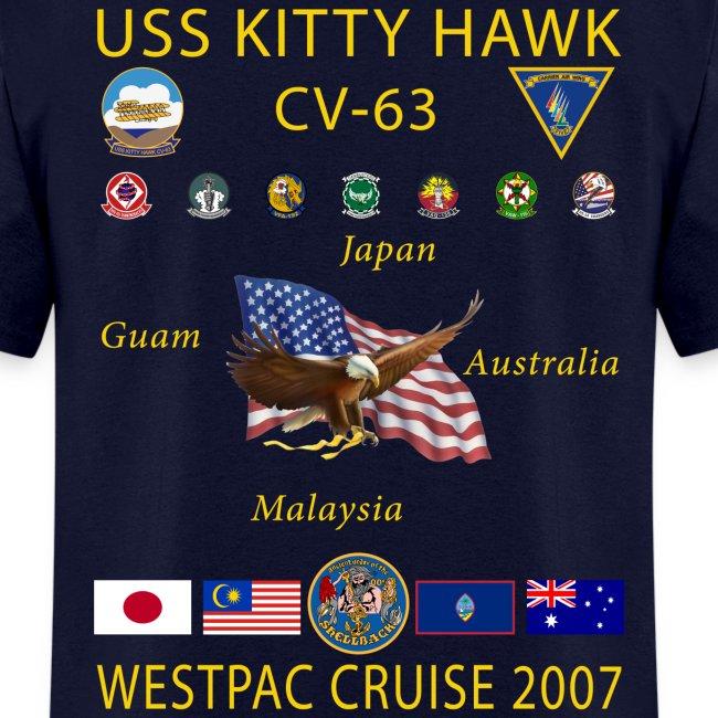 USS KITTY HAWK CV-63 2007 CRUISE SHIRT