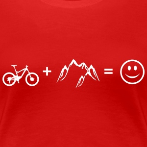 Bike – Mountain – Love – Woman Shirt (dh) - Women's Premium T-Shirt