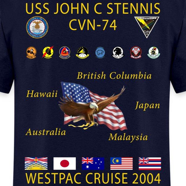 USS JOHN C STENNIS 2004 CRUISE SHIRT