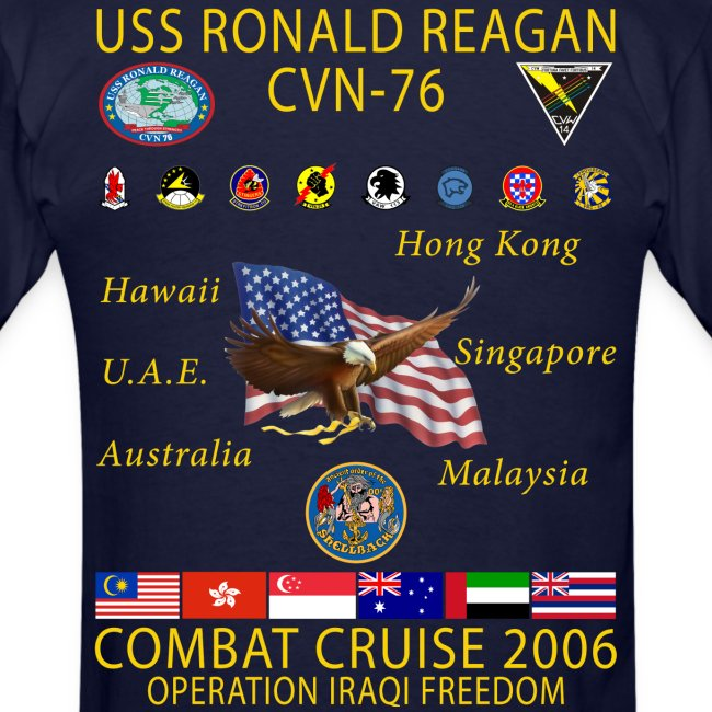 USS RONALD REAGAN 2006 CRUISE SHIRT
