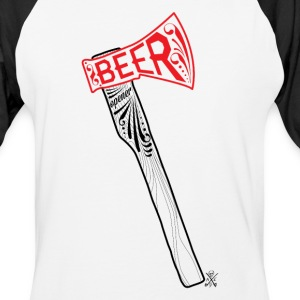 Beer Opener - Man - Baseball T-Shirt