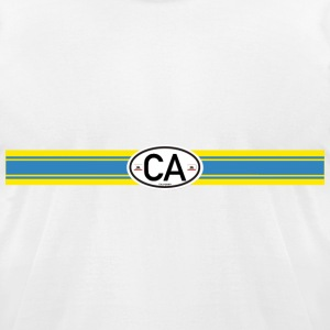 California Racing Stripe 3 - Men's T-Shirt by American Apparel