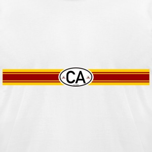 California Racing Stripe 2 - Men's T-Shirt by American Apparel