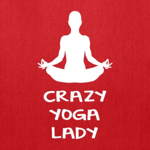 CRAZY YOGA LADY - Tote Bag
