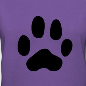 Big Paw Ladies V Neck Shirt - Women's V-Neck T-Shirt