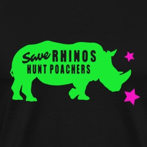 Hunt Poachers Save Rhinos design T-Shirts - Men's Premium T-Shirt