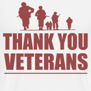 THANK YOU VETERANS - Men's Premium T-Shirt