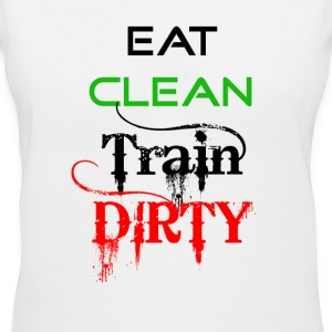 Eat Clean.gif T-Shirts - Women's V-Neck T-Shirt
