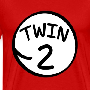 Twin 2 funny saying shirt - Men's Premium T-Shirt