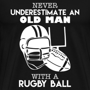 Old Man With A Rugby Ball - Men's Premium T-Shirt