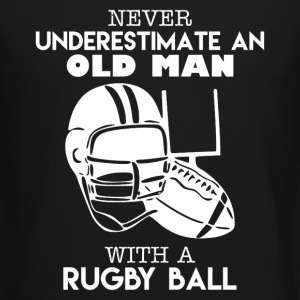 Old Man With A Rugby Ball - Crewneck Sweatshirt