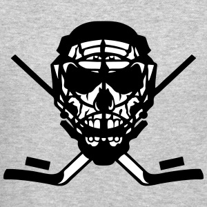 skull hockey dead head helmet lacrosse Long Sleeve Shirts - Crewneck Sweatshirt