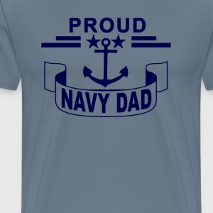 proud_navy_dad_tshirt_ - Men's Premium T-Shirt