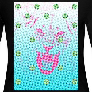 Pixelated Lion Polka Dots - Women's Long Sleeve Jersey T-Shirt