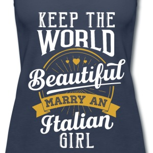 Marry an Italian Girl - Women's Premium Tank Top